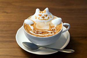 оформленная чашка кофе