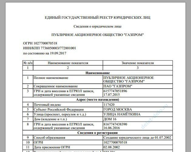 проверка ЕГРЮЛ на сайте налоговой