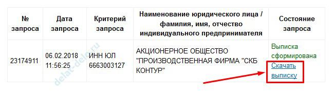 бесплатно скачать выписку из ЕГРЮЛ на официальном сайте налоговой инспекции