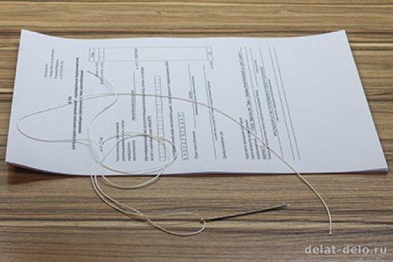 Как подшивать документы нитками на 2, 3 и 4 дырки, а также на уголок